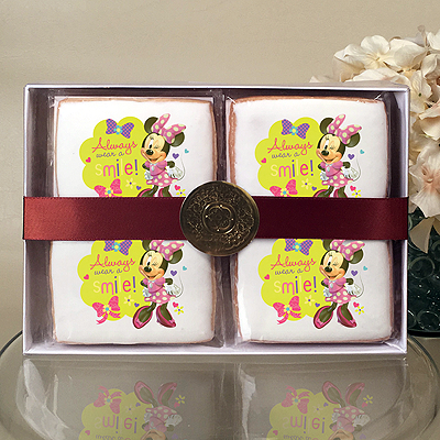 Mickey Mouse and Minnie Always Wear a Smile Cookie Gift Box