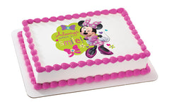 Mickey Mouse and Minnie Always Wear a Smile Photo Cake