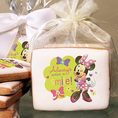 Mickey Mouse and Minnie Always Wear a Smile Photo Cookies