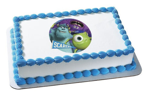 Monsters University Scarers Photo Cake