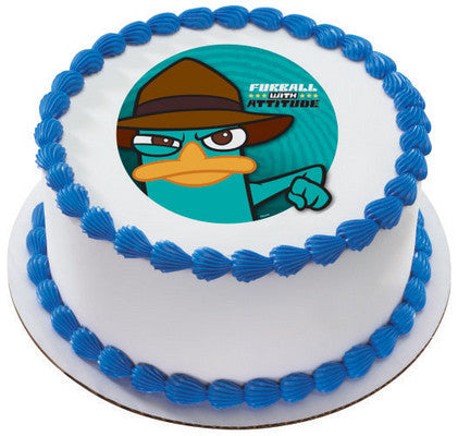 Phineas & Ferb Agent Photo Cake