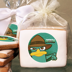 Phineas & Ferb Agent Photo Cookies