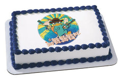 Phineas & Ferb Doo-Bee-Doo-Bah Photo Cake