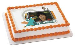 Phineas & Ferb Secret Agent Photo Cake