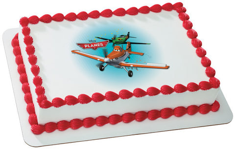Planes Flying High Photo Cake