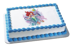 Disney Princess Ariel Princess Of Waves Photo Cake