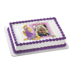 Disney Princess Rapunzel & Crown Photo Cake