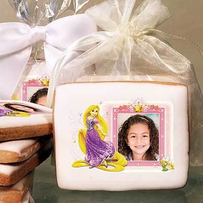 Disney Princess Rapunzel & Crown Photo Cookies