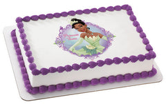 Princess & the Frog Tiana Photo Cake