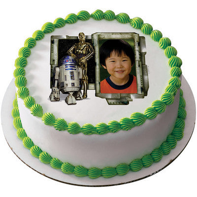 Star Wars R2D2 And C3PO Photo Cake
