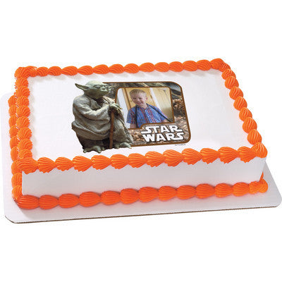 Star Wars Yoda Photo Cake