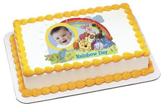 Winnie The Pooh Rainbow Day Photo Cake