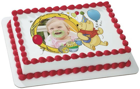 Winnie The Pooh, Pooh and Honey Photo Cake
