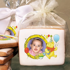 Winnie The Pooh, Pooh and Honey Photo Cookies
