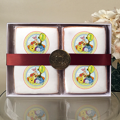 Winnie The Pooh Happy 1st Birthday Cookie Gift Box