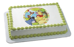 Winnie The Pooh Off To The Party! Photo Cake