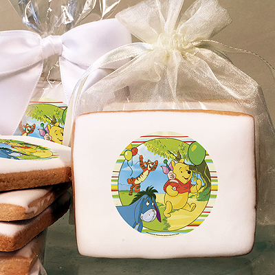 Winnie The Pooh Off To The Party! Photo Cookies