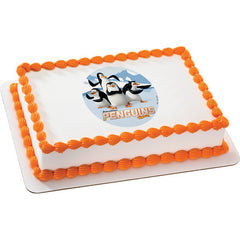 Penguins of Madagascar Crazy But Dangerous  Photo Cake