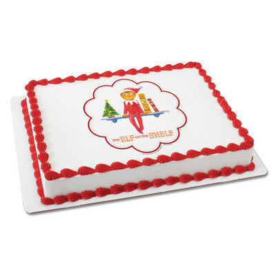 ELF ON SHELF CHRISTMAS ELF Photo Cake