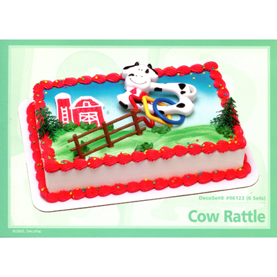 Cow Rattle Toy Cake