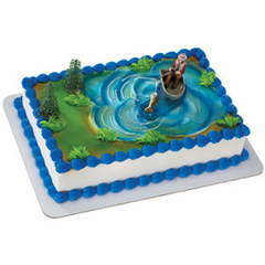 Fisherman with Action Fish Toy Cake