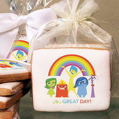 Inside Out It's a Great Day! Photo Cookies
