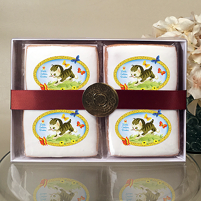 The Shy Little Kitten Cookie Gift Box