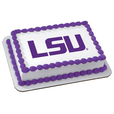 Louisiana State University Collegiate  Photo Cake