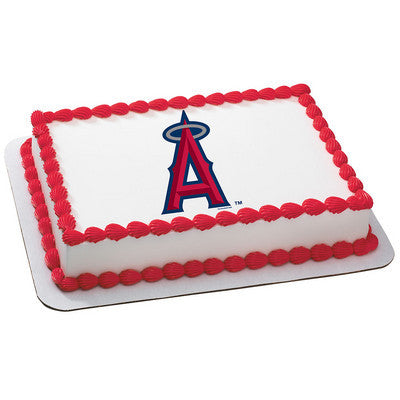 MLB Anahiem Angels Photo Cake