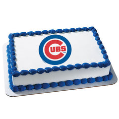 MLB Chicago Cubs Photo Cake