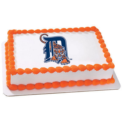 MLB Detroit Tigers Photo Cake