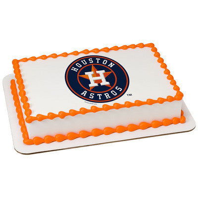 MLB Houston Astros Photo Cake