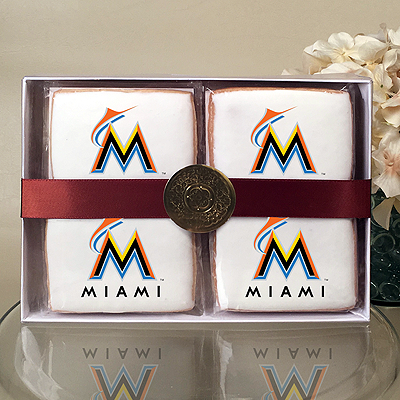 MLB Miami Marlins Cookie Gift Box