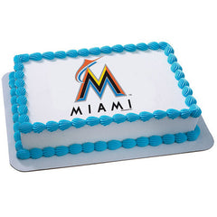 MLB Miami Marlins Photo Cake