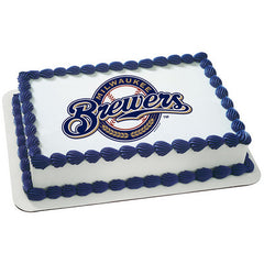 MLB Milwaukee Brewers Photo Cake