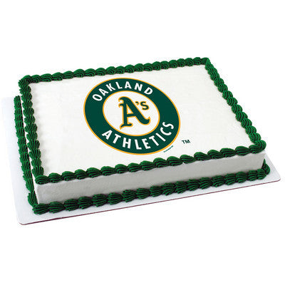 MLB Oakland Athletics Photo Cake