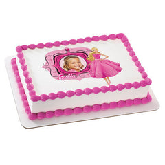 BARBIE FABULOUS IN PINK Photo Cake