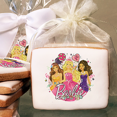 Barbie Glitter Birthday Photo Cookies