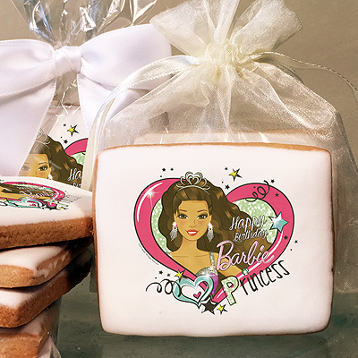 Barbie Party Princess Photo Cookies