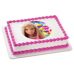 Barbie Sparkle Photo Cake