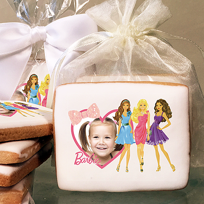 Barbie Heart and Bows Photo Cookies