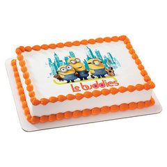 Minions Le Buddies Photo Cake