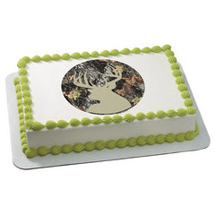 Mossy Oak Break-Up Silhouette Photo Cake