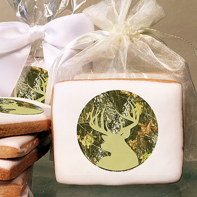 Mossy Oak Break-Up Silhouette Photo Cookies