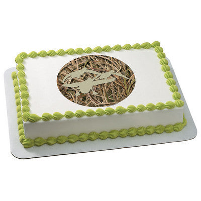 Mossy Oak ShadowGrass Blades Silhouette  Photo Cake