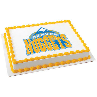 NBA Denver Nuggets Photo Cake