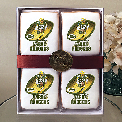 NFL Players Aaron Rodgers Cookie Gift Box