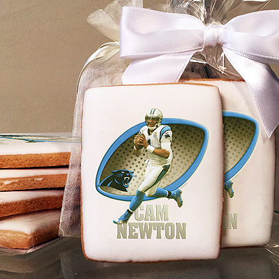 NFL Players Cam Newton Photo Cookies