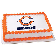 Admirable Nfl Chicago Bears Photo Cake Funny Birthday Cards Online Fluifree Goldxyz