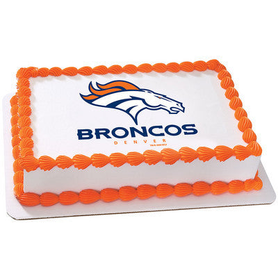 NFL Denver Broncos Photo Cake